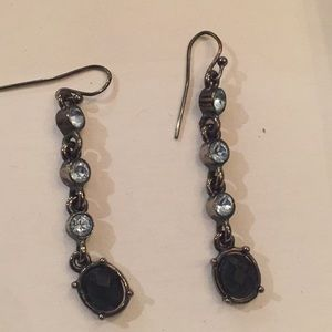 Jewelry - Blue rhinestone and silver earrings